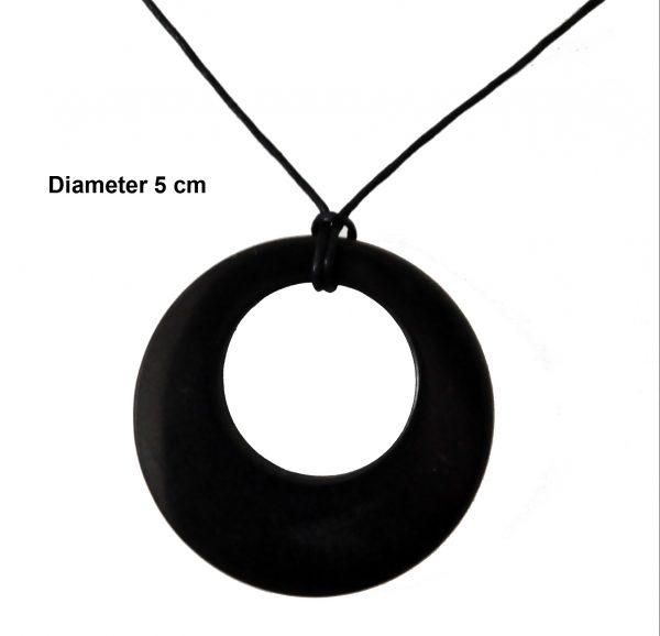 Shungite circle in circle ketting