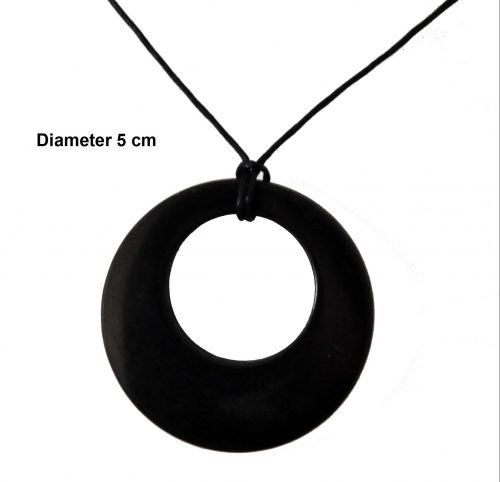 Shungite circle in circle ketting