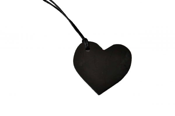Shungite hanger hart groot