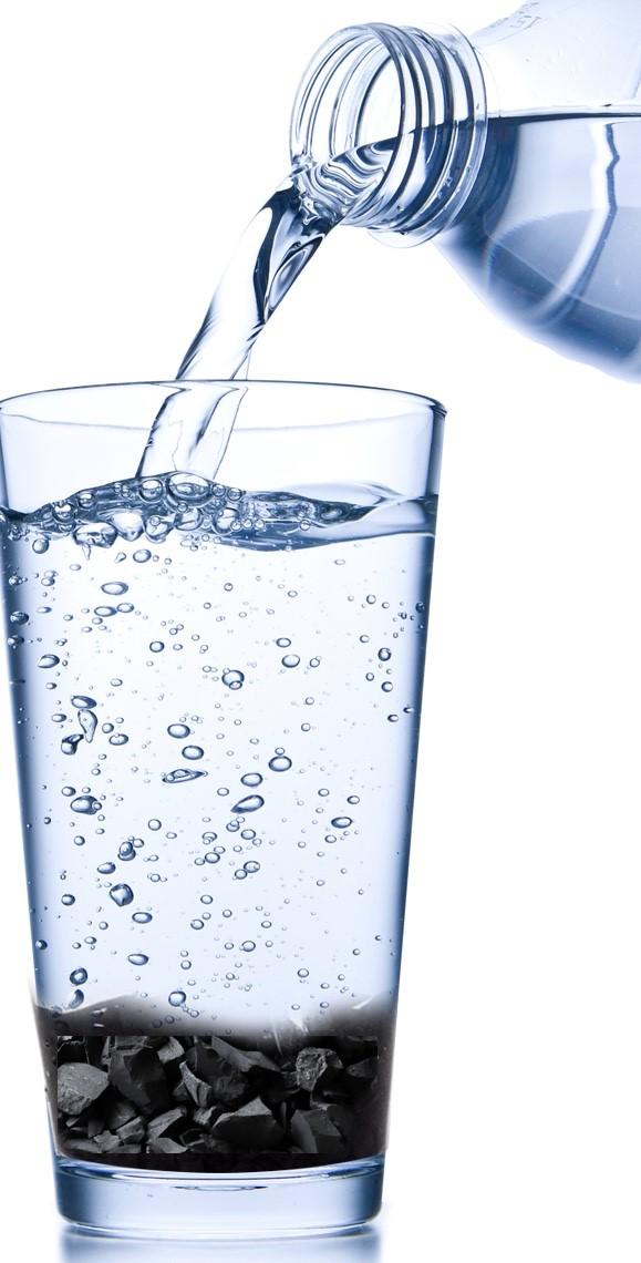 Zelf gefilterd Shungite water maken
