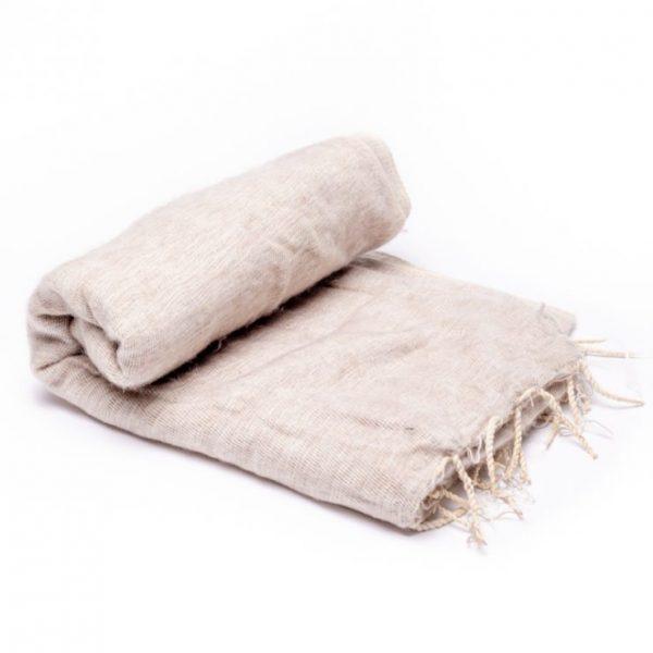 Meditatie omslagdoek XL beige