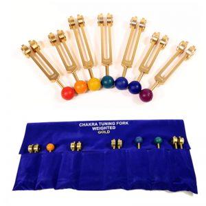 Stemvorken Chakra goudkleurige serie
