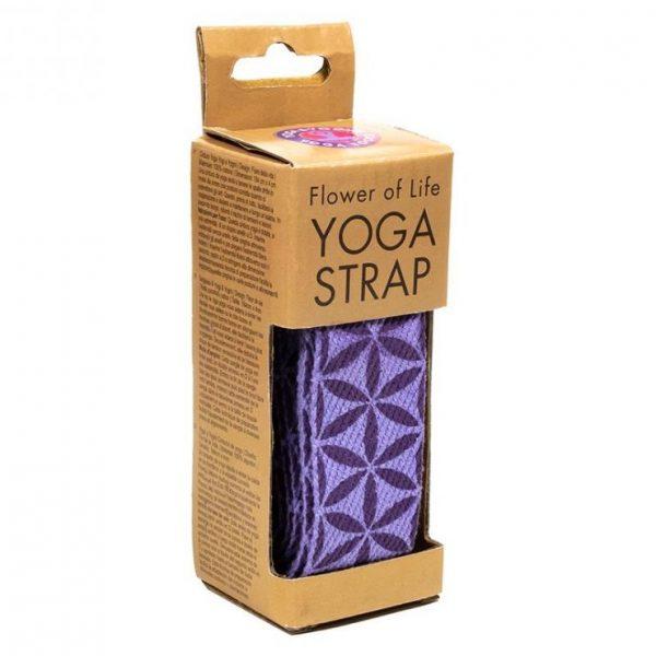 Yoga riem D-ring bloem des levens